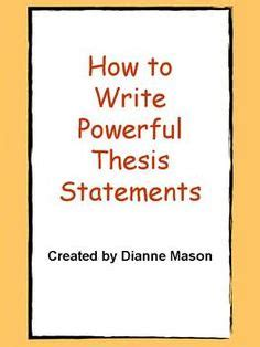 Best 25 Thesis statement ideas on Pinterest Writing a